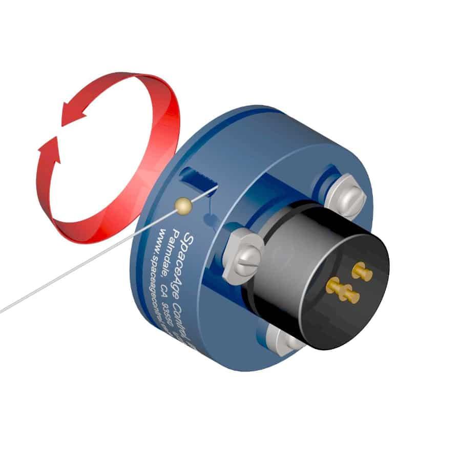 Preiswerter Seilzugpotentiometer Serie L für Industrieanwendung