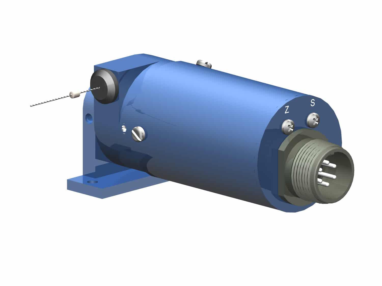 Seilzugpotentiometer Serie 6 mit elektrischem Anschluss